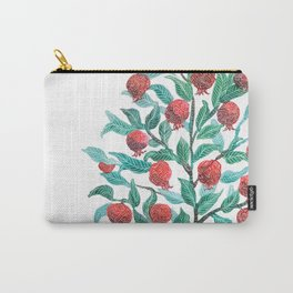 Persephone- Pomegranate Tree on White Carry-All Pouch