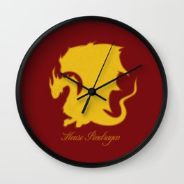 Distressed Pendragon Crest Wall Clock