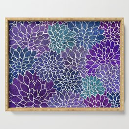 Floral Abstract 22 Serving Tray