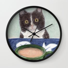 Coffee with Henry #4 Wall Clock