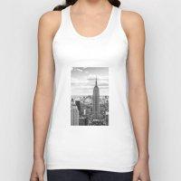 new york skyline Tank Tops featuring New York Skyline by KARNATARKA