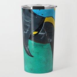 Hyacinth Macaw Gouache Painting Travel Mug