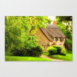 Village Cottage. Canvas Print