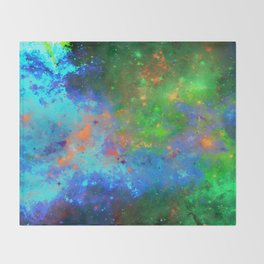 Speed Of Light - Abstract space painting Throw Blanket