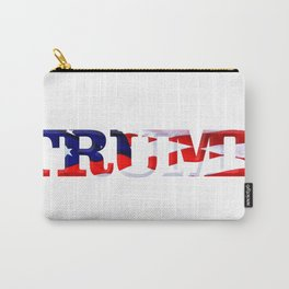 "The word ""Trump"" ie President Trump with the American Flag from Fort McHenry overlayed. Carry-All Pouch"