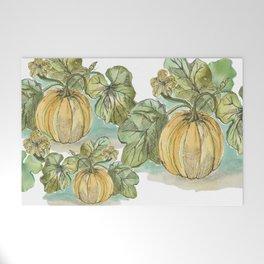 Antique Botanical Sketch Pumpkin Welcome Mat