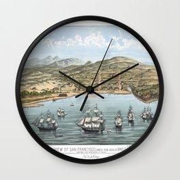 SAN FRANCISCO CALIFORNIA city old map Father Day art print poster Wall Clock