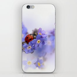 Ladybirds on Forget-me-not iPhone Skin
