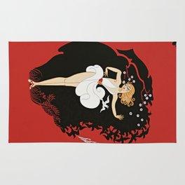 """Art Deco Design """"Femme et le Diable"""" Rug"""