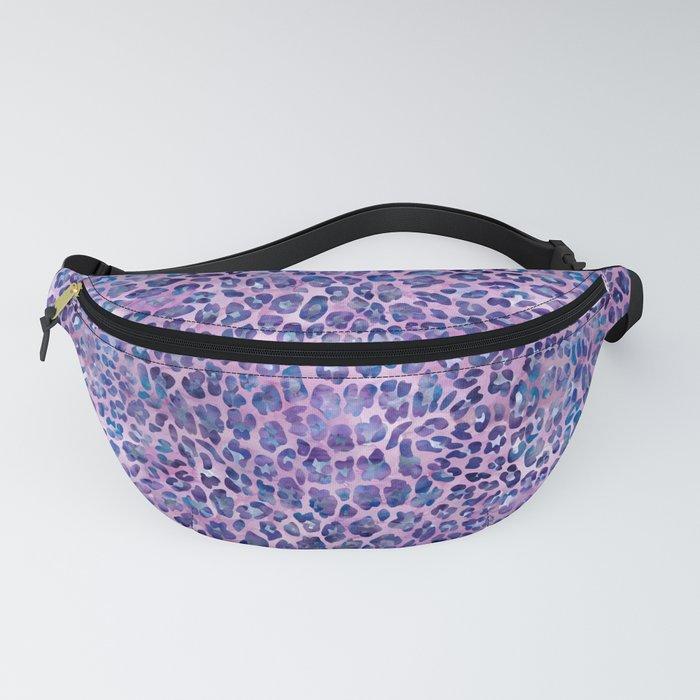 Purple Leopard Print Fanny Pack