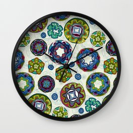 reef mandala Wall Clock