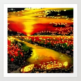 Art Morning Walk Pathway Painting In The Mix Art by © Catherine Lott Art Print