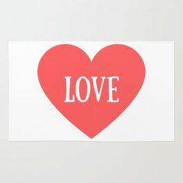 Love Heart Valentines Day Rug