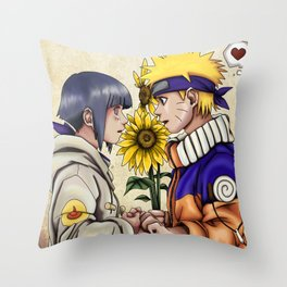 Naruto and Hinata Throw Pillow