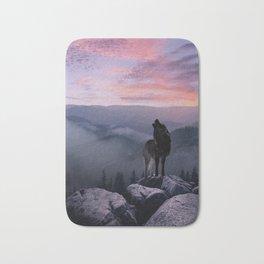 Lone Wolf at Sunset Ridge Bath Mat