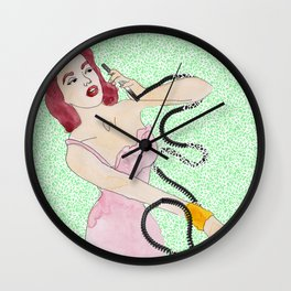 Talkative Tina Wall Clock