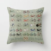 brompton Throw Pillows featuring Bicycle by Wyatt Design