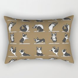 Boston Terriers Yoga Rectangular Pillow
