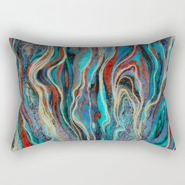 Colorful wavy abstraction Rectangular Pillow