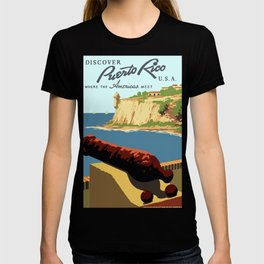 Vintage Discover Puerto Rico WPA Travel T-shirt