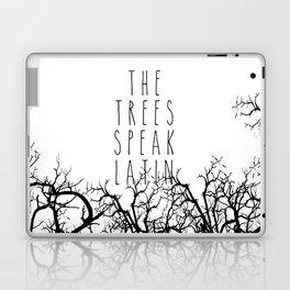THE TREES SPEAK LATIN QUOTE BY MAGGIE STIEFVATER  Laptop & iPad Skin