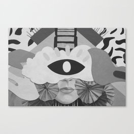 What is Art? (Black and White) Canvas Print