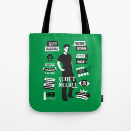 Scott Mccall Teen Wolf Quotes Tote Bag