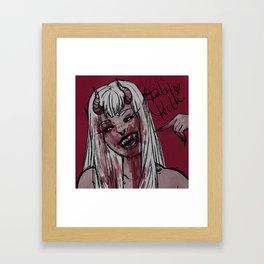 Baby Teeth Framed Art Print