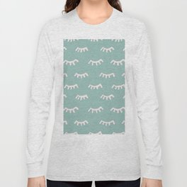 Mint Sleeping Eyes Of Wisdom - Pattern - Mix & Match With Simplicity Of Life Long Sleeve T-shirt