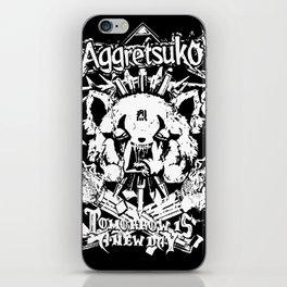 Red Panda Death Metal cutie Aggretsuko iPhone Skin