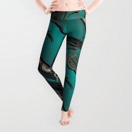 Horse Nation (Aqua) Leggings
