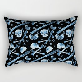 Dem Bones - Black Rectangular Pillow