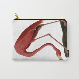 Flamingo Large Print Carry-All Pouch