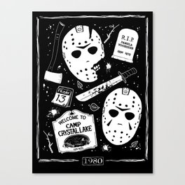 Welcome to Camp Crystal Lake! Canvas Print