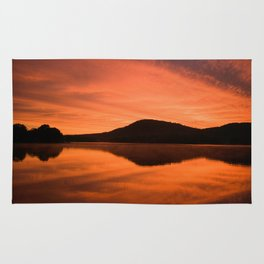 Dawn on Fire: Lac du Saint Sacrement Rug