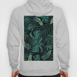 Tropical Jungle Night Leaves Pattern #1 #tropical #decor #art #society6 Hoody