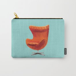 Orange Arne Jacobsen's Egg Chair Polygon Art Carry-All Pouch