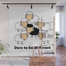 Dare To Be Different Black Sheep Wall Mural