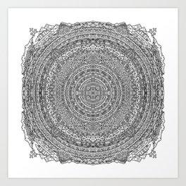 Mandala Dante Inferno Art Print