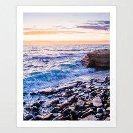 Rocky Coastline at La Jolla Shores Fine Art Print Art Print