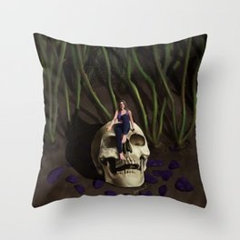 In The Garden At Night Throw Pillow