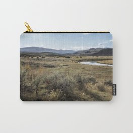 Waiting for Wolves in Lamar Valley - Yellowstone Carry-All Pouch