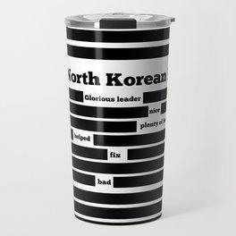 North Korea News Paper Travel Mug