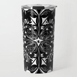 White Chess Inspired Queenly Motif Travel Mug