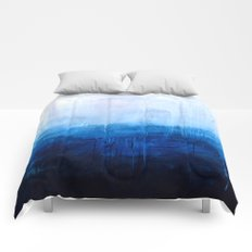 All good things are wild and free - Ocean Ombre Painting Comforters