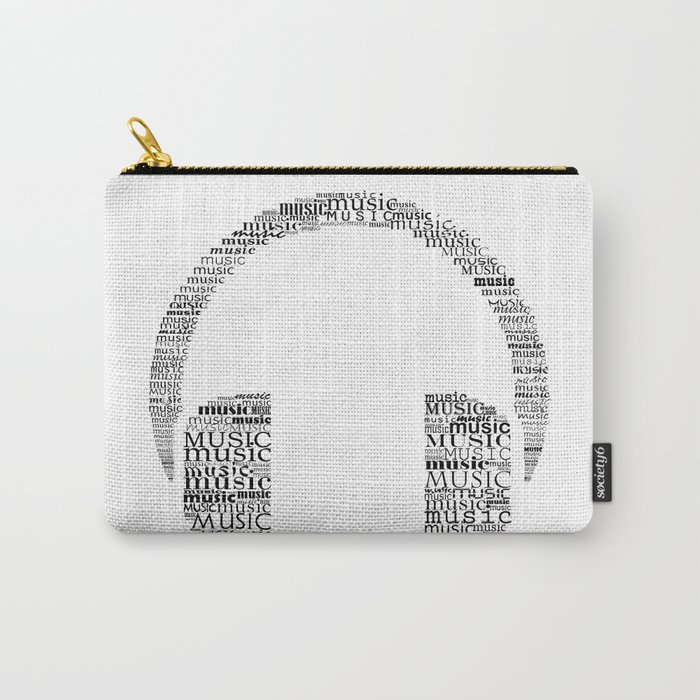 Typographic headphone Carry-All Pouch