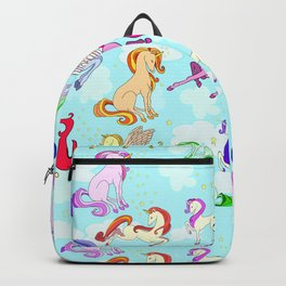 Unicorns repeating pattern Backpack