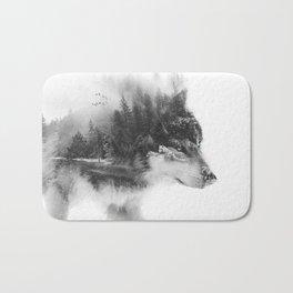 Wolf Stalking Bath Mat