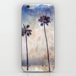 Palm Trees Watercolor iPhone Skin
