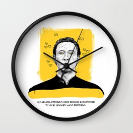 """Star Trek Valentine- """"My mental pathways have become accustomed to your sensory input patterns."""" Wall Clock"""